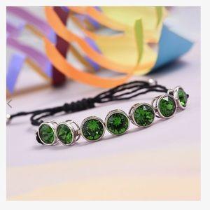 🆕 Green Swarovski Crystal Friendship Bracelet
